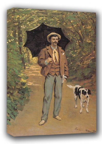 Monet, Claude: Portrait of Victor Jacquemont/Man with an Umbrella. Fine Art Landscape Canvas. Sizes: A3/A2/A1 (00776)